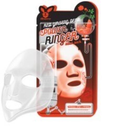 Регенерирующая Тканевая маска Elizavecca Red Ginseng Deep Power Ringer Mask Pack