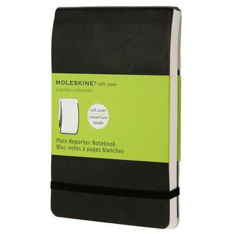 Блокнот Moleskine REPORTER SOFT QP813 Pocket 90x140мм 192стр. нелинованный мягкая обложка черный