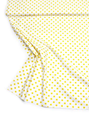 Звезды желтые на белом