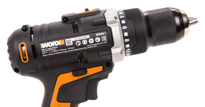 Дрель-шуруповерт аккумуляторная WORX WX183.9 20В