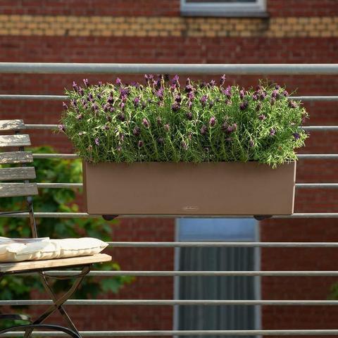 15705 Кашпо LECHUZA Балконера Колор 80 Пастельно-зеленое все-в-одном