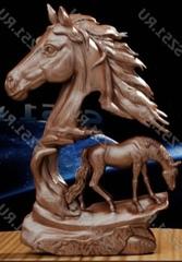 Силиконовый молд № 344 Конь  малый  левый