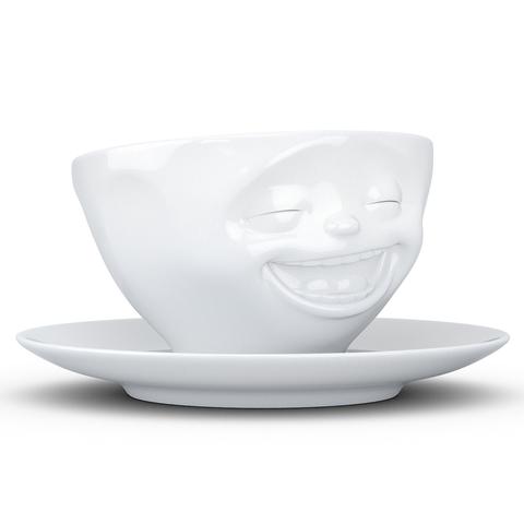 Чайная пара Tassen Laughing 200 мл белая