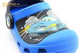 Сабо Крокс (Crocs) пляжные шлепанцы кроксы для мальчиков, цвет синий. Изображение 11 из 12.
