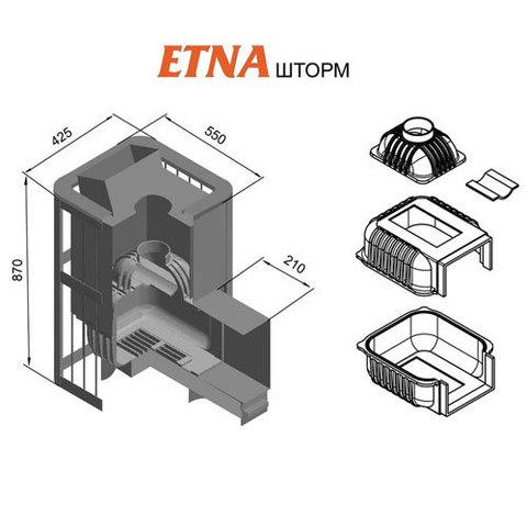 Банная печь ETNA Шторм 18 (ДТ-4С)