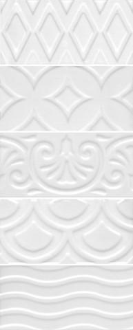 Плитка настенная KERAMA MARAZZI Авеллино 150х74 белый структура mix 16017