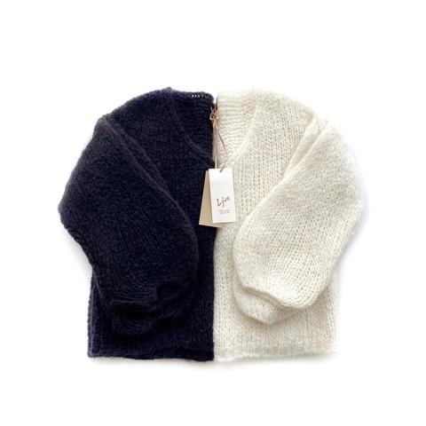 Пуловер укороченный с объемными рукавами