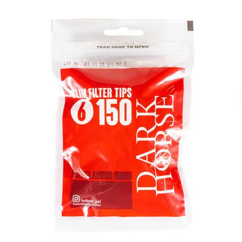 Фильтры для самокруток DarkHorse Slim 150 шт