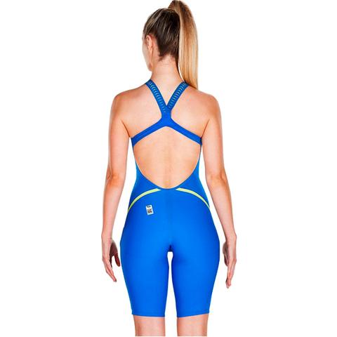 (2018) Стартовый костюм SPEEDO FASTSKIN LZR RACER X Openback Kneeskin beautiful blue/radical green ПОД ЗАКАЗ
