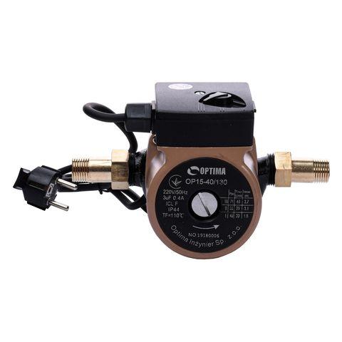 Насос циркуляционный Optima OP15-40 130мм + гайки, + кабель с вилкой!