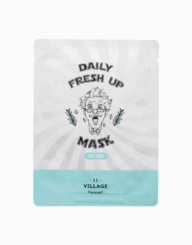 Village 11 Factory Daily Fresh Up Mask Tea Tree успокаивающая тканевая маска для лица с экстрактом чайного дерева