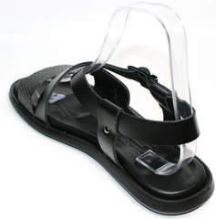 Мужские сандали кожа Roberto Verbano 74609 Black.