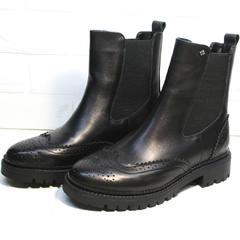 Ботинки женские Jina 7113 Leather Black