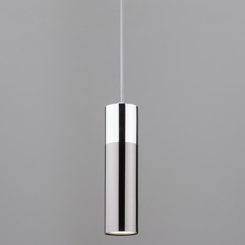 Подвесной светодиодный светильник 50135/1 LED хром/черный жемчуг