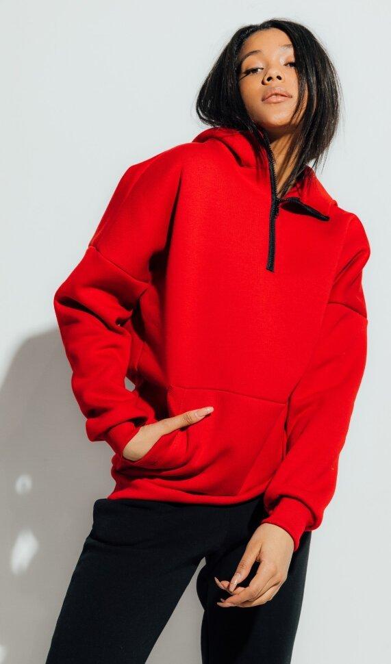 Neck Zip Red женская красная толстовка от Forstrong