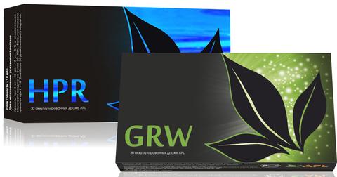 APL. Набор Аккумулированные драже APLGO HPR+GRW для очищения и восстановления печени, общего оздоровления организма