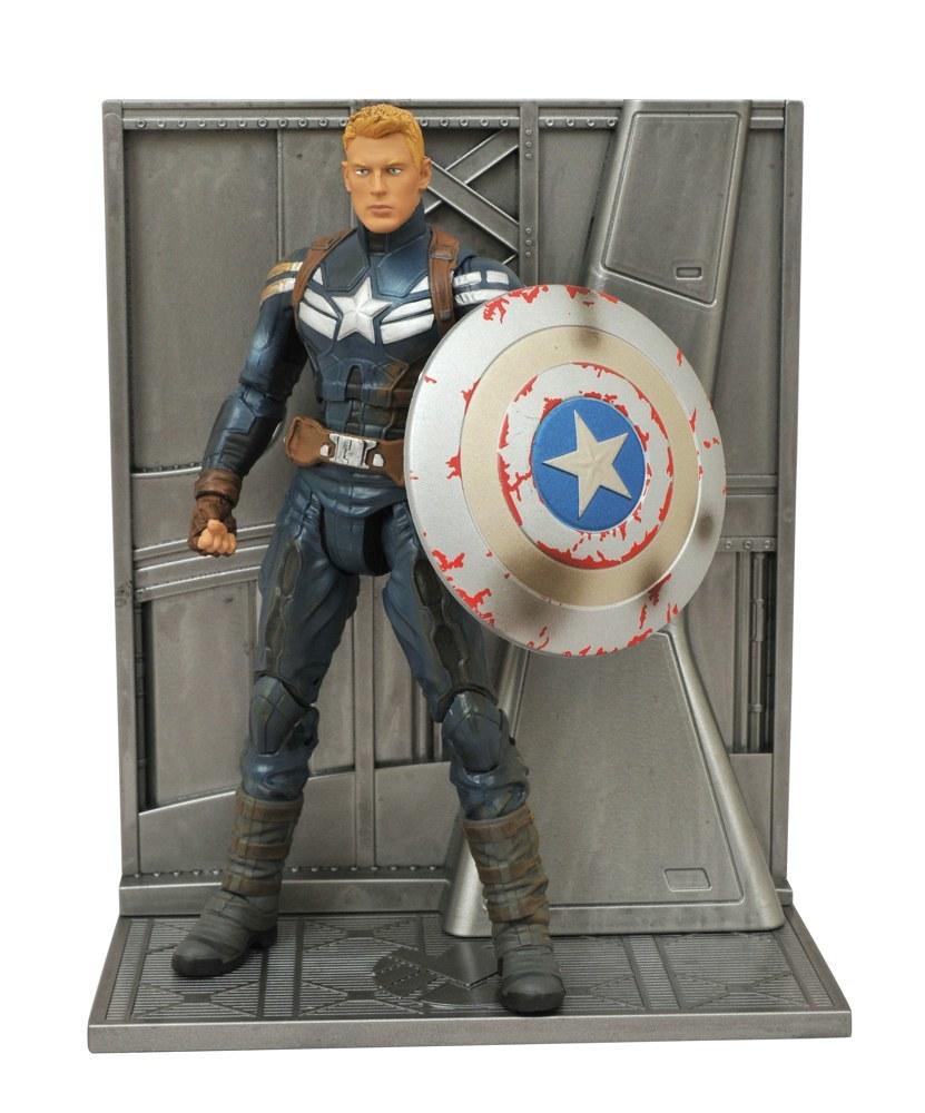 Марвел Селект фигурка Капитан Америка с повреждениями — Marvel Select Battle Damaged Exclusive
