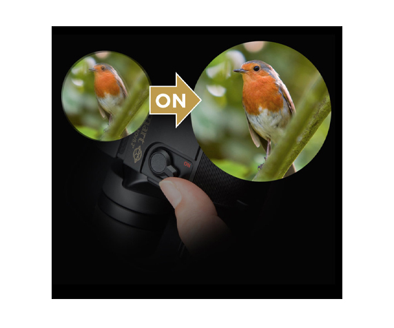 Бинокль KENKO VcSmart 10x30 со стабилизацией - фото 3 - режим стабилизации изображения