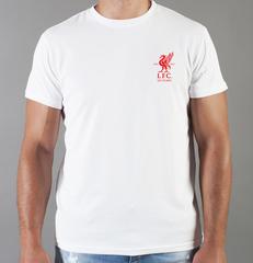 Футболка с принтом FC Liverpool (ФК Ливерпуль) белая 0020