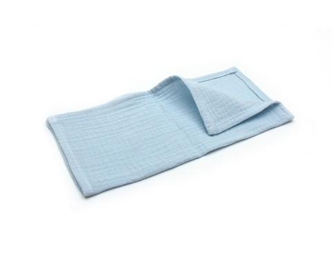 Муслиновая салфетка-голубой (26х26 см)