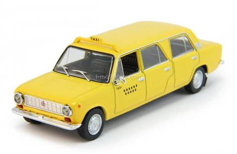 VAZ-2101 Lada stretched Taxi Cuba yellow 1:43 DeAgostini Auto Legends USSR #201