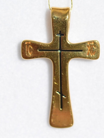 Крест простой (кулон из серебра)