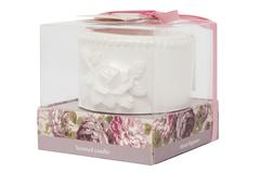 Керамический подсвечник с ароматической свечой Secret De Maison Flower Garden ( mod. TFP 118GF ) — белый