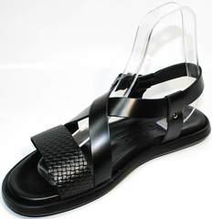Мужские сандали из кожи Roberto Verbano 74609 Black.