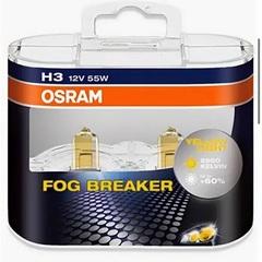 Лампа Osram H3 Fog Breaker12v-55w (PK22s) 2шт DuoBox