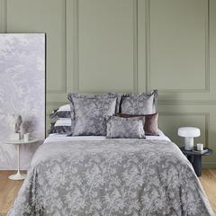 Постельное белье 2 спальное евро макси Yves Delorme Aurore Platine