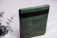 Зеленый вертикальный кожаный чехол Gmakin для iPad