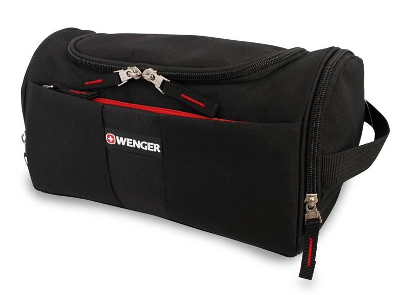 Несессер WENGER, 28x16x16 см., цвет чёрный (608509)