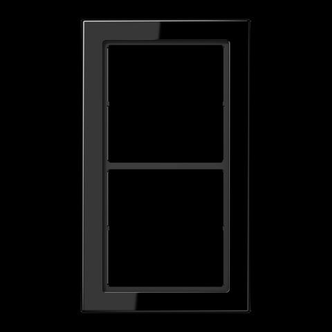 Рамка на 2 поста. Цвет Чёрный. JUNG FD - ДИЗАЙН. FD982SW