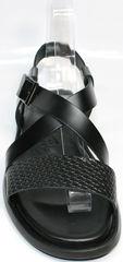 Модные мужские сандалии Roberto Verbano 74609 Black.