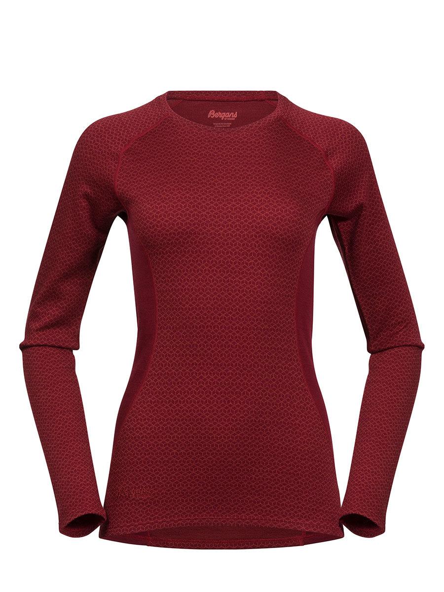 Bergans термобелье футболка 8961 Snoull Lady Shirt Bordeaux