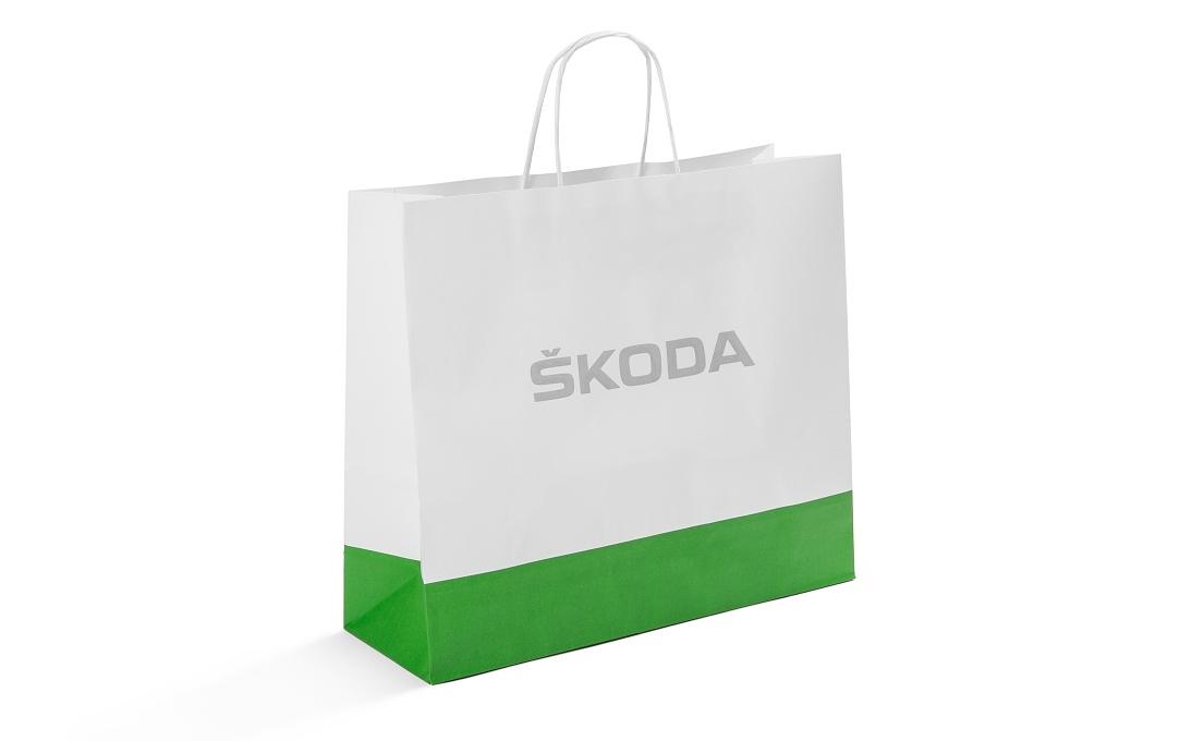 Бумажный подарочный пакет Skoda