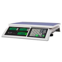 Весы торговые настольные Mertech M-ER 326AC-15.2 Slim, 15кг, 2гр, 325х230, с поверкой, без стойки