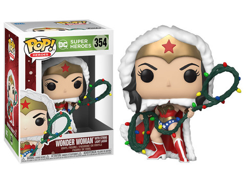 Wonder Woman with Christmas Lights Lasso (DC: Holiday) Funko Pop! Vinyl Figure || Чудо-женщина с гирляндой