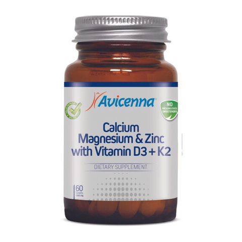AVICENNA | Кальций Магний Цинк с витамином D3 + K2, (60 таблеток)