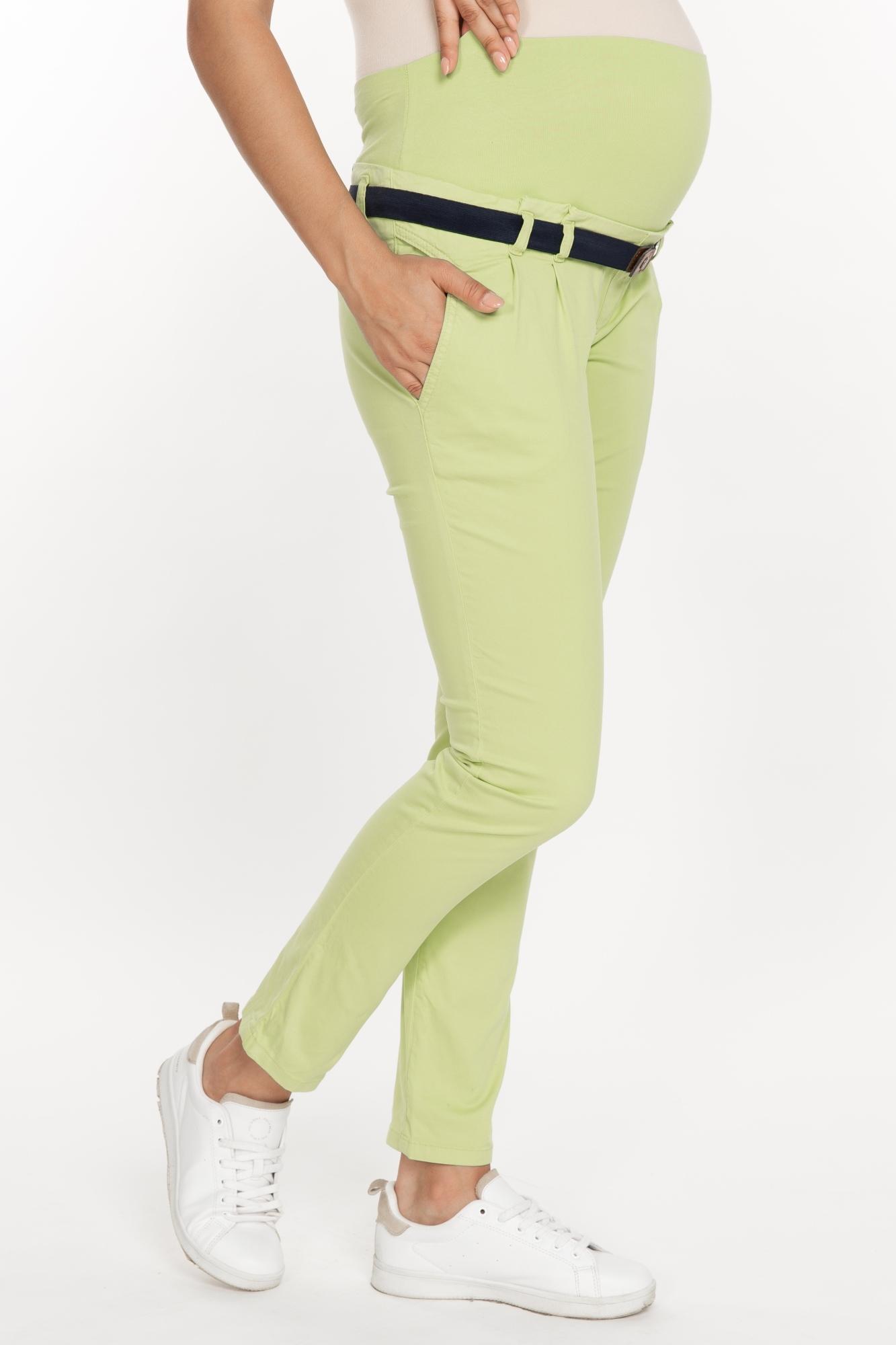 Брюки для беременных 02809 зеленый