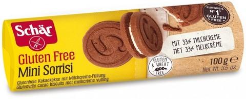 Печенье-сэндвич (Minisorrisi) шокол с мол нач 100г б/глютен Schar
