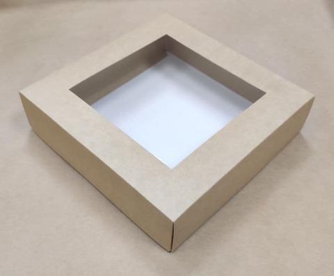 Kleona Подарочная коробка с окошком 23*23*7