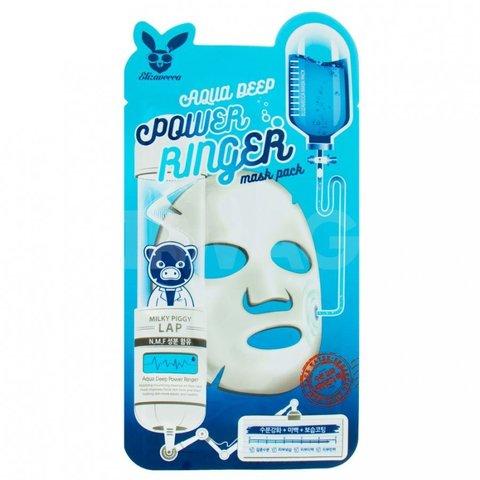 Увлажняющая тканевая маска для лица Elizavecca Aqua Deep Power Ringer Mask Pack