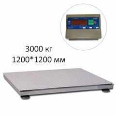 Купить Весы платформенные СКЕЙЛ СКП 3000-1212, LED, АКБ, 3000кг, 1000гр, 1200х1200, RS-232, стойка (опция), с поверкой, выносной дисплей. Быстрая доставка