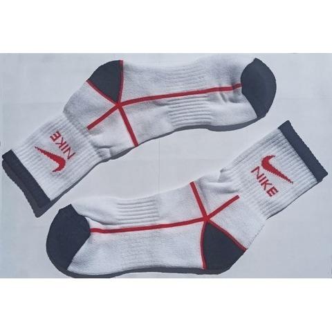 Мужские носки белые с красным adidas спортивные