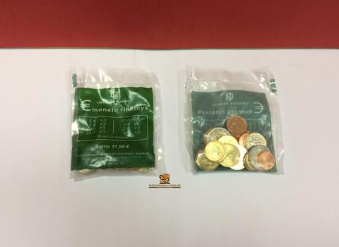 """Набор монет Литвы """"Стартовый набор (Euro starter kit)"""" в банковской упаковке 2015 год (23 монеты)"""
