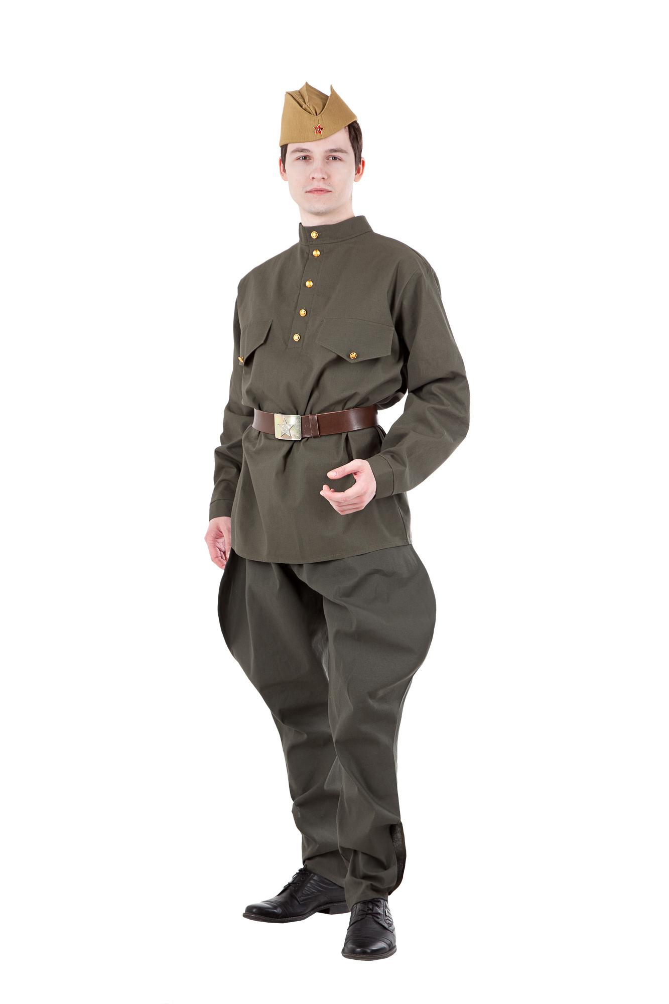 Военная форма мужская Солдат в галифе (бязь)