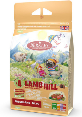Сухой корм Berkley Свежий ягнёнок с овощами для собак
