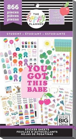 Блокнот со стикерами -Value Pack Stickers - Student - Icons- 866 шт