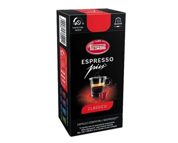 Кофе в капсулах Palombini Espresso Piu Classico, 10 капсул для кофемашин Nespresso